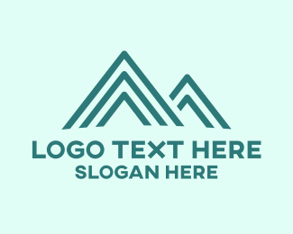 Glacier - Blue Peak logo design