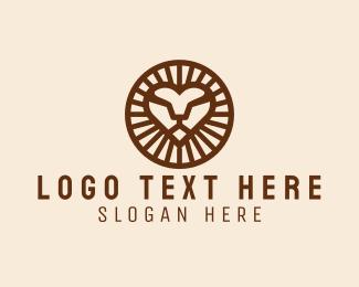 Inca - Lion Head Outline logo design