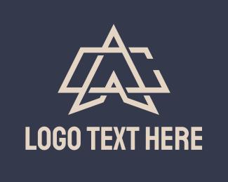 A - Geometric Monogram Letter A & C logo design