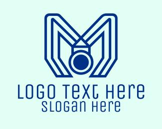 Medal - Modern Blue Medal logo design