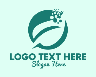 Seeding - Bubble Leaf Plant logo design
