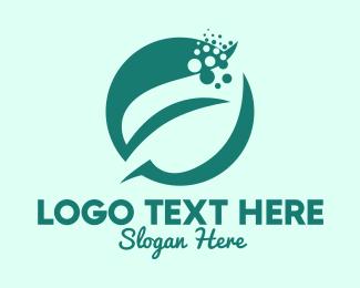Plant Shop - Bubble Leaf Plant logo design