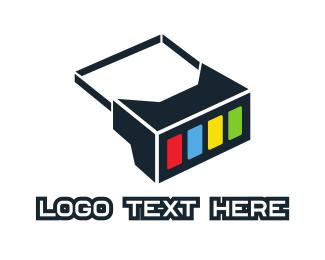 5d - Geometric Box Goggles logo design