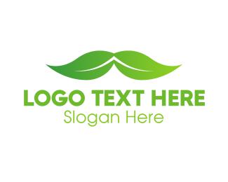 Weed - Eco Barber logo design