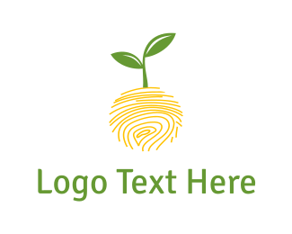 Healthcare - Nature Fingerprint logo design