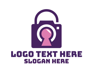 Purple Camera - Purple Secure Camera logo design