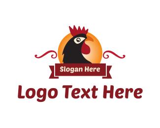 Farm - Rooster & Sun logo design