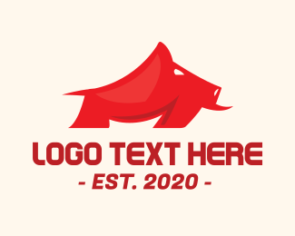 Red Wild Boar Logo