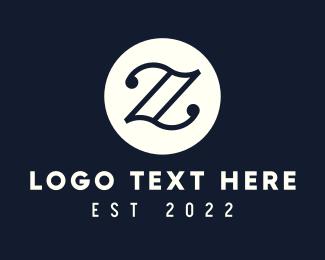 Chords - Elegant Black letter Z logo design