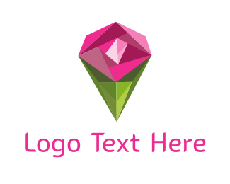 Silver Diamond - Diamond Rose logo design