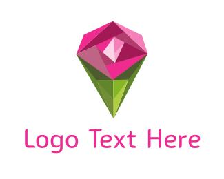 Silver - Diamond Rose logo design