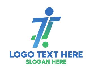 Runner - Soccer Player logo design