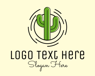 Cactus Plant Logo Maker