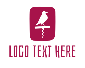Vineyard - Wine Bird logo design