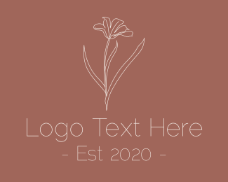 Minimalist - Minimalist Beauty Flower logo design