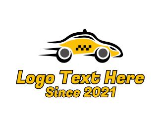Taxi - Fast Yellow Taxi logo design