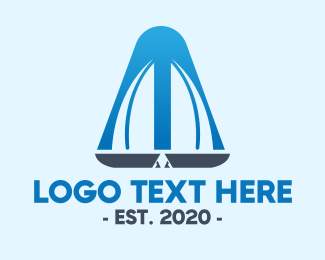 Windsurf - Modern Double Sailboat logo design
