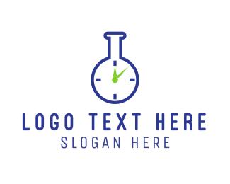 Pharmaceutic - Lab Time logo design