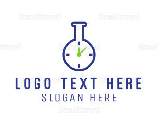 Beaker - Lab Time logo design