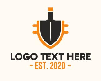 Garden - Gardening Shovel logo design