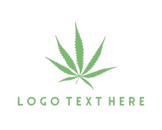 Weed - Cannabis Leaf logo design