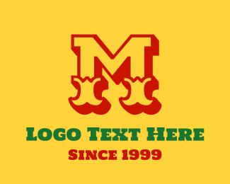 Saloon - Mexican Letter M logo design