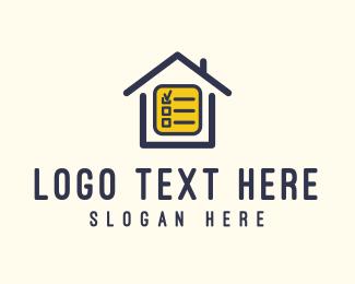 Records - House Checklist logo design