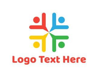 Diversity - Colorful Team logo design