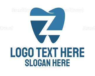 Lettermark Z - Dental Letter Z logo design
