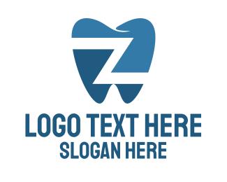 Lettermark Z - Dental Tooth Letter Z logo design