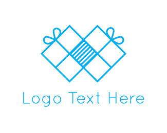 Giving - Blue Presents logo design