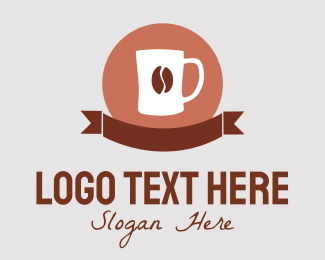 Banner - Coffee Bean Banner logo design