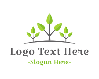 Tagline - Growing Forest logo design