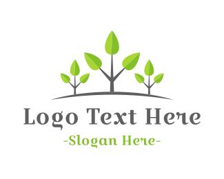 Vegetarian - Growing Forest logo design