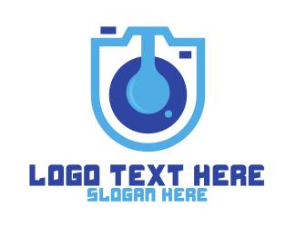 Blue Camera - Blue Lab Camera logo design