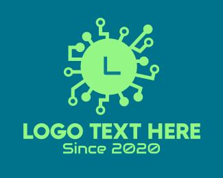 Virus - Computer Virus Lettermark logo design