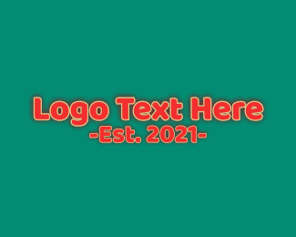 Cartoon - Cartoon Comic Wordmark logo design