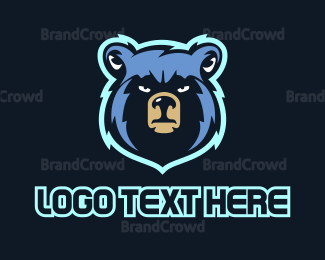 Aggressive - Blue Bear logo design