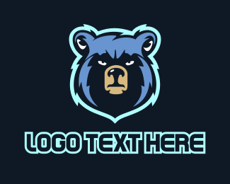 Teddy Bear - Blue Bear logo design
