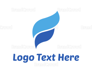 Curved - Water Waves logo design