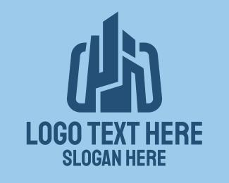 Construction - Blue Construction Company logo design