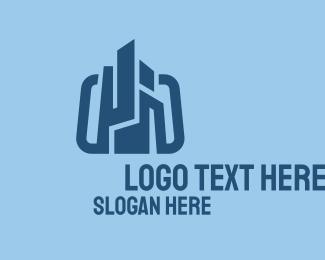 Company - Blue Construction Company logo design