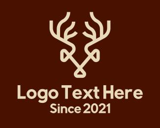 Antlers - Wild Deer Antlers logo design
