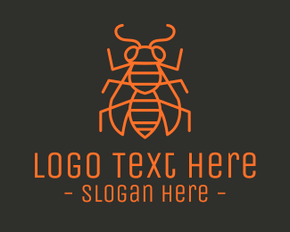 Red Insect - Minimalist Insect Bug logo design