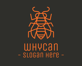 Bug Minimalist Insect Bug logo design