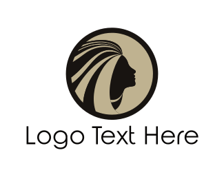 Hairdressing - Girl Face logo design
