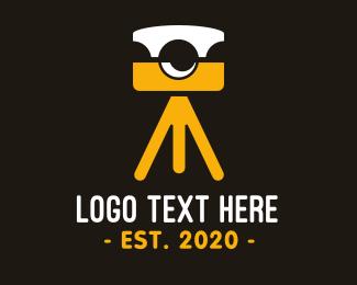Cameraman - Photography Camera Tripod logo design