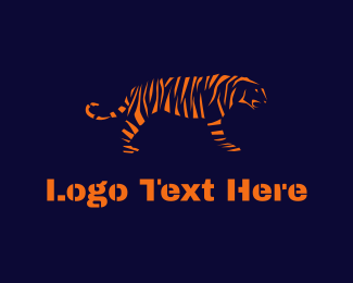 Fauna - Tiger Stripes logo design