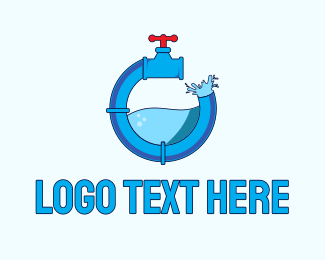 Plumbing - Water Faucet Plumbing logo design