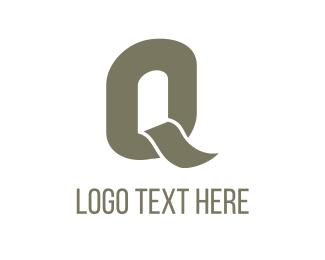 """Grey Letter Q"" by logeko"